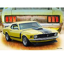 1970 Boss 302 Mustang Photographic Print