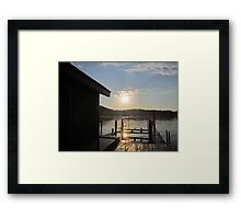 Aquia Sunset by Respite Artwork Framed Print