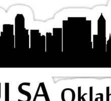 Tulsa Cityscape Skyline Sticker