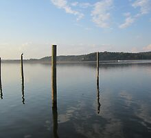 Dock Pylon Reflections by Respite Artwork by Respite-Artwork