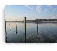 Dock Pylon Reflections by Respite Artwork Canvas Print