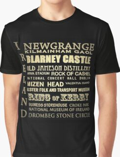 Ireland Famous Landmarks Graphic T-Shirt