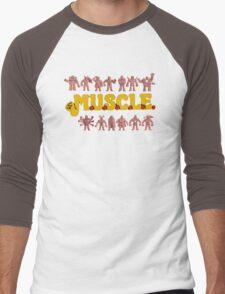 M.U.S.C.L.E Muscleman Muscle men Men's Baseball ¾ T-Shirt