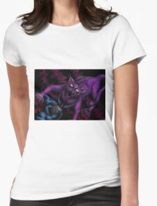 Corruption in Violet Womens Fitted T-Shirt