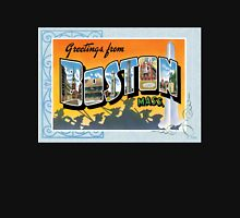 Boston Massachusetts Vintage Souvenir Post Card Unisex T-Shirt