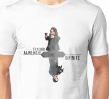 Tracing A Line In The Infinite -Alternate design (Person of Interest) Unisex T-Shirt