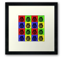 Marmite on Colour Small Framed Print