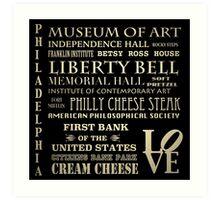 Philadelphia Pennsylvania Famous Landmarks Art Print