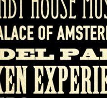 Amsterdam Famous Landmarks Sticker