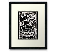 Psychobilly Mayhem Framed Print