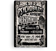Psychobilly Mayhem Canvas Print