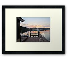 Sunset on the boat slip 2 by Respite Artwork Framed Print