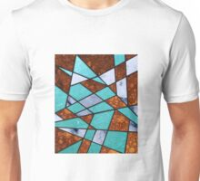 Abstract #477 Marble Shards & Rusted Metal Unisex T-Shirt