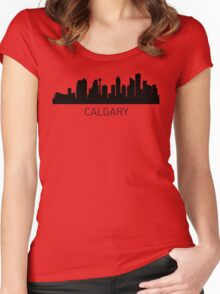 Calgary Alberta Cityscape Women's Fitted Scoop T-Shirt