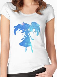 Lapis Lazuli Galaxy Women's Fitted Scoop T-Shirt