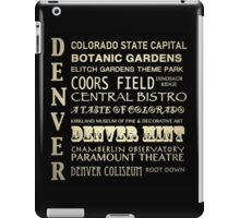 Denver Colorado Famous Landmarks iPad Case/Skin