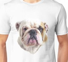 English Bulldog Head Unisex T-Shirt