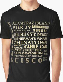 San Francisco Famous Landmarks Graphic T-Shirt
