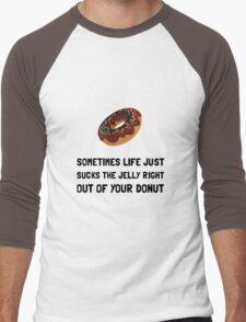 Life Sucks Jelly Donut Men's Baseball ¾ T-Shirt