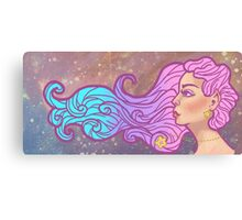 Star Galaxy Elf Girl Canvas Print