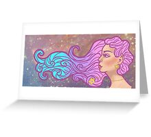Star Galaxy Elf Girl Greeting Card