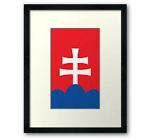 Slovakia Coat of Arms Framed Print
