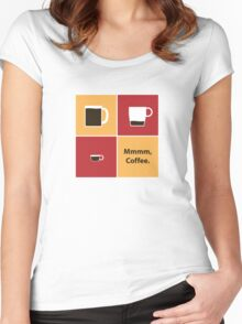 Mmmm, Coffee Women's Fitted Scoop T-Shirt
