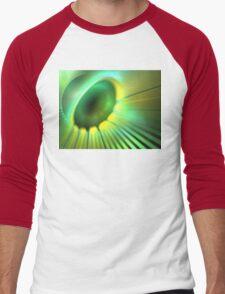 Green Rays Men's Baseball ¾ T-Shirt