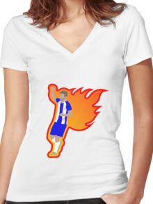 Will Grigg's on Fire Women's Fitted V-Neck T-Shirt