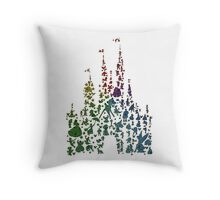 Happiest Rainbow Castle on Earth Throw Pillow