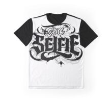 'Epic Selfie' Black Goth Grunge Tattoo Hand Lettering Calligraphy Graphic T-Shirt