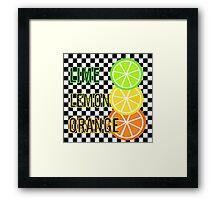 Lime Lemon Orange Framed Print