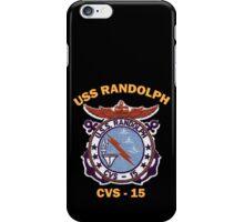 USS Randolph (CV/CVA/CVS-15) Crest for Dark Colors iPhone Case/Skin