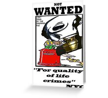 wanted new york Greeting Card