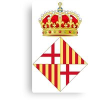 Coat of Arms of Barcelona  Canvas Print