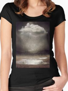 Even the Sky Cries Sometimes Women's Fitted Scoop T-Shirt