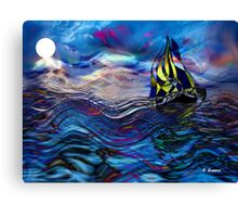 FOLLOWED BY THE MOON, by E. Giupponi Canvas Print