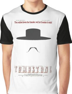 You Called Down the Thunder Tombstone Wyatt Earp Graphic T-Shirt