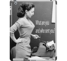 Retro Humor Woman Versus Typewriter  iPad Case/Skin