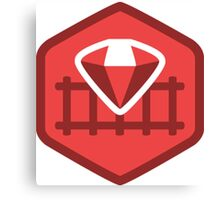 Ruby on Rails Canvas Print