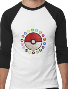 Pokemon - Pokeball Men's Baseball ¾ T-Shirt