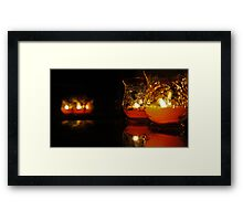 Autumn Candle Light Framed Print
