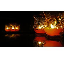 Autumn Candle Light Photographic Print