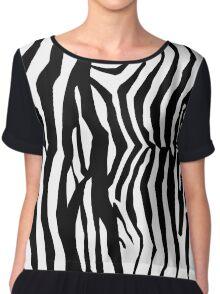 Zebra Skin Pattern Chiffon Top
