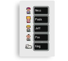 Earthbound - Characters with names Canvas Print