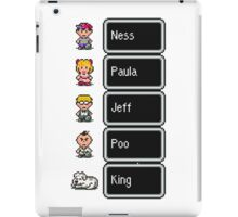 Earthbound - Characters with names iPad Case/Skin