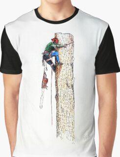 Arborist Tree Surgeon Lumberjack Logger Stihl Graphic T-Shirt