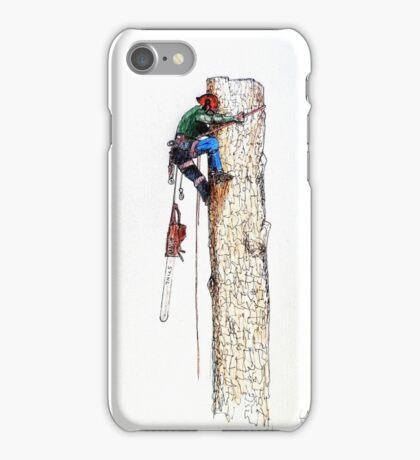 Arborist Tree Surgeon Lumberjack Logger Stihl iPhone Case/Skin