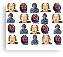 Pewdiepie face pattern Canvas Print
