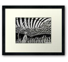 260 - CAT DESIGN - DAVE EDWARDS - INK - 2016 Framed Print